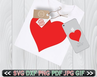 Heart SVG Files for Valentine Cricut Designs DXF Pattern Love - Heart SVG for Silhouette - Svg Cut Files for Valentine - Instant Download