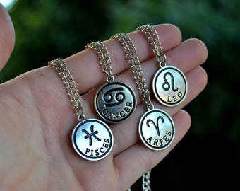 What's your sign? Zodiac Necklace - Choose Your Horoscope - Astrology Jewelry
