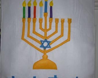 Handmade Countdown to Hanukkah Menorah Felt Calendar - Festival of Lights