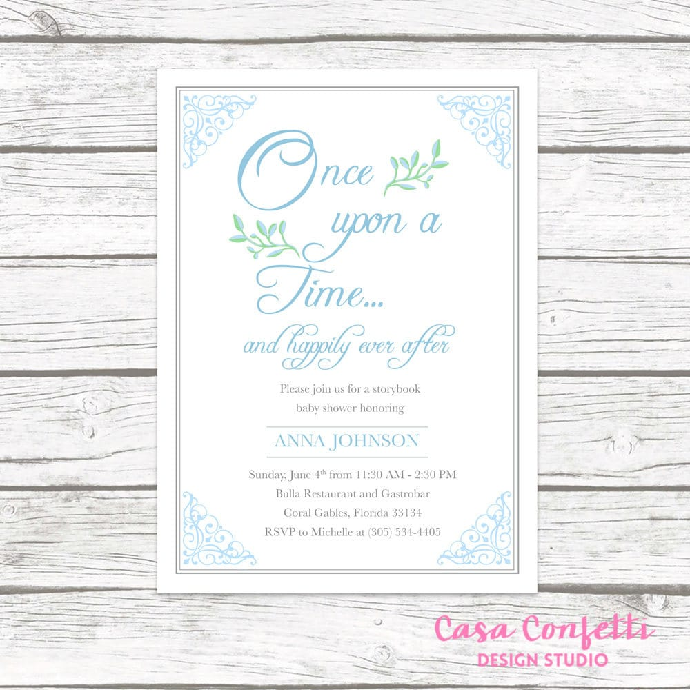 Story Book Baby Shower Invitation, Storybook Invitation, Fairy Tale ...