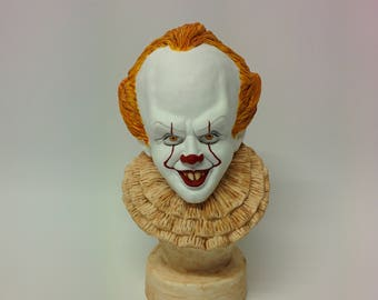 PAINTED Pennywise the clown bust | IT | Handmade sculpture | Hand painted resin cast