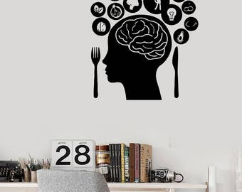Wall Vinyl Decal Brain's Humans Dream and Idea  Modern Decor for Living Room  (#2436dn)