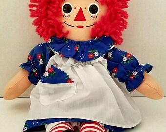 Hasbro Raggedy Ann Plush Doll Johnny Gruelle Rag Doll Yarn Hair 1996