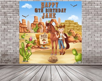 Cowgirl Backdrop, Cowgirl Banner, Western Backdrop, Cowgirl Party Banner, Cowgirl Birthday, Cowgirl Party, Cowgirl Theme, Cowgirl Decor