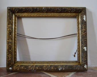 Beautiful French Antique Wood and Gesso Frame, French, Painting, Old, Wood, Home Decor, Style, Interiors