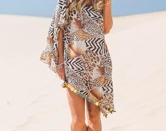 Sequins Animal Print Wedding Dress