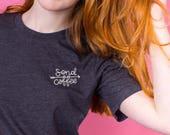 Send Coffee  - Women's Embroidered Shirt - Women's Slogan T-Shirt - Alphabet Bags