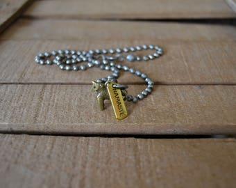 Trojan Horse Pendant Necklace