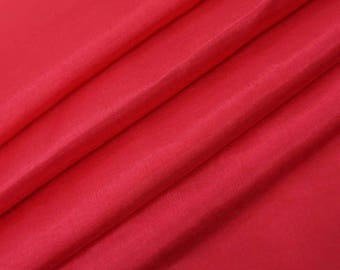 """Crimson Red Shantung Fabric, Sewing Crafts, Decorative Fabric, Apparel Fabric, 43"""" Inch Wide Fabric By The Yard ZSH2E"""