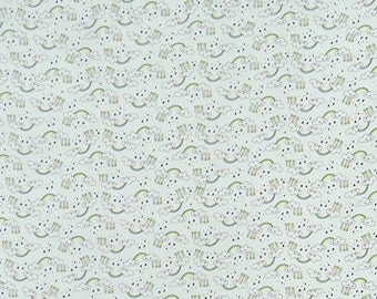 "Rainbow Print, White Fabric, Decorative Fabric, Quilt Material, Apparel Fabric, 42"" Inch Cotton Fabric By The Yard ZBC9146A"
