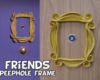 friends tv show frame peephole frame VINTAGE STYLE Friends frame series door marco friends cadre rahmen gift for her best friend gift