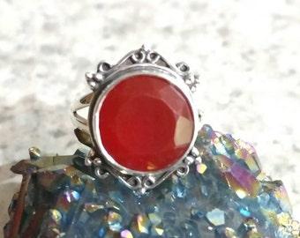 Dainty Carnelian Ring Size 6 1/2