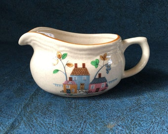 Vintage International Heartland Stoneware Gravy Boat, Country Kitchen