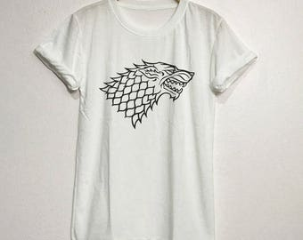 House stark Shirt T-Shirt Gifts Graphic Tee Tops Clothing Unisex Adults Size S M L XL