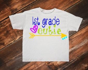First grade svg, School svg, Back to school svg, First day of school svg, 1st day of school, First grade cutie, 1st grade svg, First day