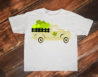 Vintage truck svg, Clover svg, Four leaf clover svg, Shamrock truck svg, Irish svg, St patricks day svg, Shamrock svg, St Patricks svg