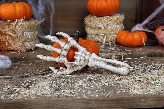 Cast Iron Skeleton Hand Bottle Opener-Skeleton Bottle Opener-Cast Iron Bottle Opener-Halloween Bottle Opener-Vintage Opener-Bar Decor
