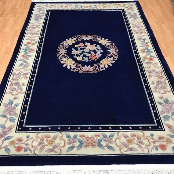 6' x 9' Chinese Aubusson Oriental Rug - Full Pile - Hand Made - 100% Wool