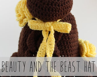 Beauty and the Beast Inspired Hat Crochet Pattern