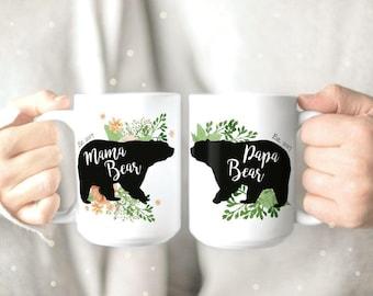 Papa and Mama Bear Mugs - Couple Mugs - Coffee Mug - Mama Bear Mug - Papa Bear Mug - Funny Mug - Cute Mugs