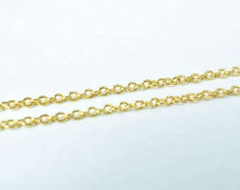 1mm Gold Filled Chain 18K GFC062 Sold by Foot