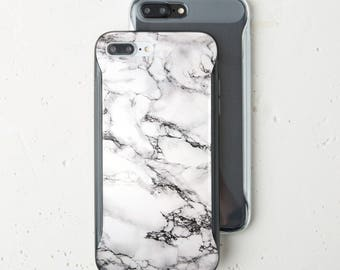 Phone 7 Plus iPhone Case iPhone X Case Soft Marble iPhone 6s Case Bumper White Marble iPhone 6s Plus Case Marble Pattern Stone Silver WC1502