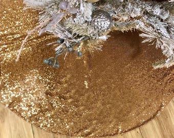 Gold sequence tree skirt, Tree skirt, Christmas Tree skirt, Sequence Christmas Tree Skirt, Christmas decor, home decor, sequin tree skirt