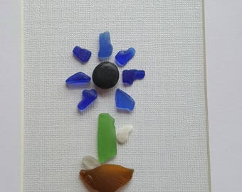Unique Sea glass art, beach glass art, Kindergartens Teacher gift,  sea glass gift, sympathy gift,  friendship gift, gift for her