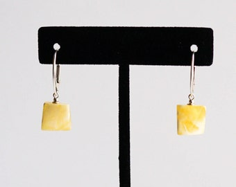 Natural Baltic Amber Earrings 2g