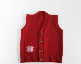 Baby waistcoat, handmade waistcoat for kids, kids clothing, gilè per bambino, coming home outfit, CACHEMIRE baby waisted, christmas baby gif