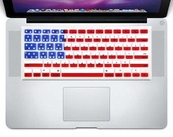 """macbook Keyboard Cover Silicone Skin for Apple MacBook Air 13"""" and Pro 13"""" 15"""" 17"""" (with or w/out Retina Display) iMac (US American Flag)"""