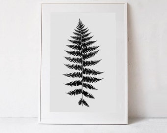 Nature Print, Botanical Print, Fern Art Print DOWNLOAD Art PRINTABLE POSTER Minimalist Decor, Digital Print, Fern Wall Art, Printable Decor