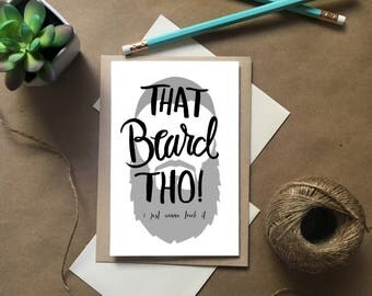 Manly Cards, Manly Birthday Card, Beard Birthday Card, Men's Birthday Card, Birthday Card for Men