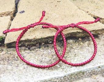 Couple red bracelet. couple bracelet. cord bracelet. yoga bracelet. harbourjewelleryuk.
