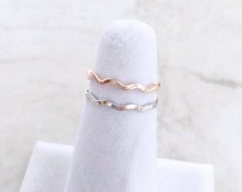 Wavy Ring, Minimalist ring, Dainty ring, stackable ring, thin silver ring, stacking ring, Silver Rings