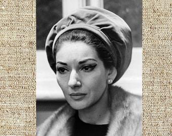 Maria Callas photograph, black and white photo print, vintage photograph, Opera divas, classic music decor, legendary singers