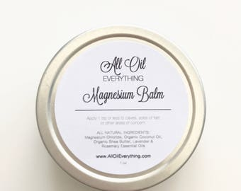 Magnesium Balm - Magnesium Lotion| Magnesium Deficiency Supplement | Insomnia |Muscle Aches |Restless Leg | Stocking Stuffer for Women