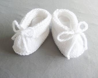 booties baby 3 months for baptism or wedding ceremony - baby - white slippers shoes