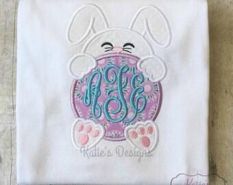 Monogrammed Easter Rabbit Shirt// Embroidered, Personalized, Monogrammed// Easter Rabbit, Monogrammed, Embroidered Easter Shirt, Easter Baby