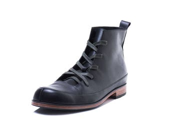 Ankle boots,men boots,lace-up boots,black men boots