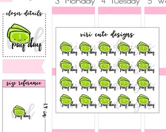 Kawaii Pay Day Planner Stickers |034