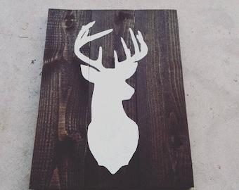 Deerhead Woodland Wall Sign