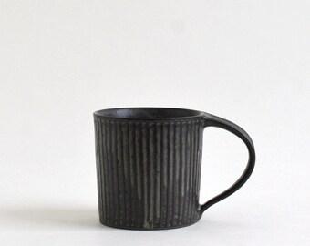 Shinogi Mug Cup (Blue Black) ;  Koji Kitaoka (15005701-SBG)