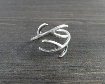 Antler ring Nature ring Silversmith jewelry Unique gift Gift from Norway One of a kind Modern ring
