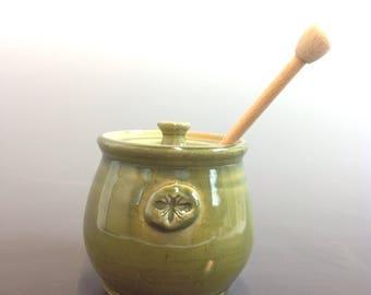Bob Taft Green Honey Jar