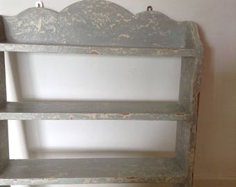 Stunning Hand Chippy  Painted Shelves