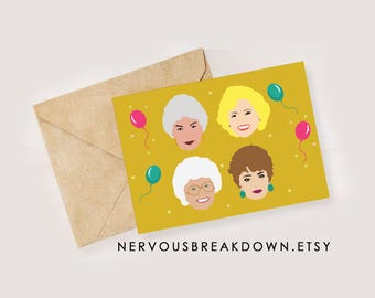 Golden Girls Birthday Card