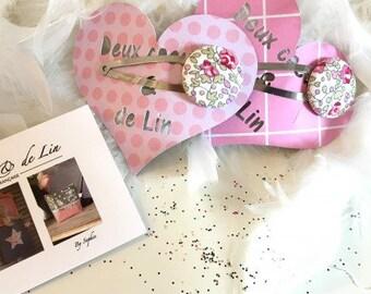 Hairclip, Liberty of London Eloise pink
