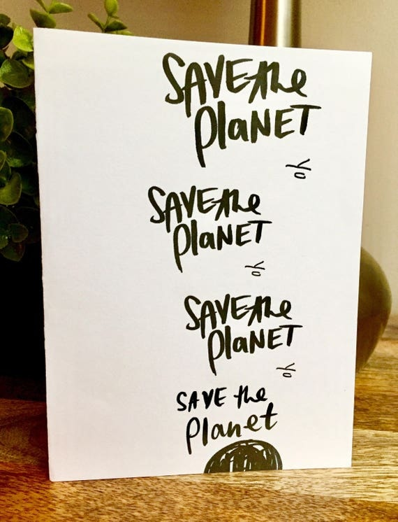 Save the planet card, earth day card, environmental card, work together card, climate change, earth card