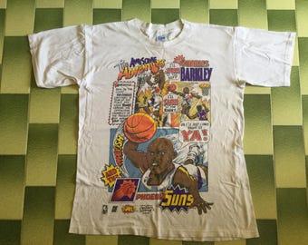 Vintage NBA Charles Barkley Phoenix Suns Caricature t-shirt Size M
